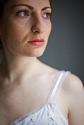 Woman with freckles - p4130670 by Tuomas Marttila