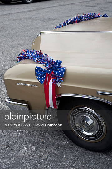 American decorated old car - p378m920550 by David Hornback
