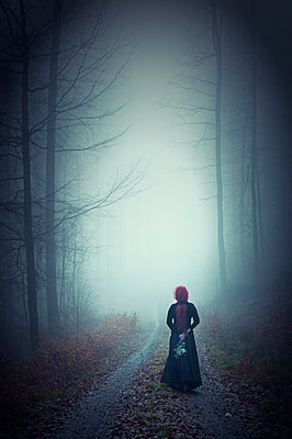 Alone in the fog - p992m892674 by Carmen Spitznagel
