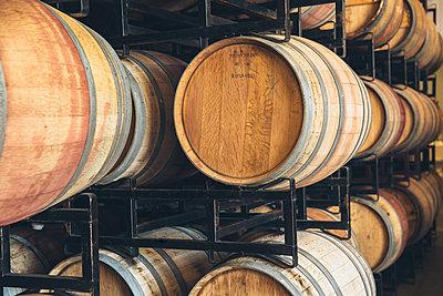 Wine barrels aging - p555m1415534 by Inti St Clair