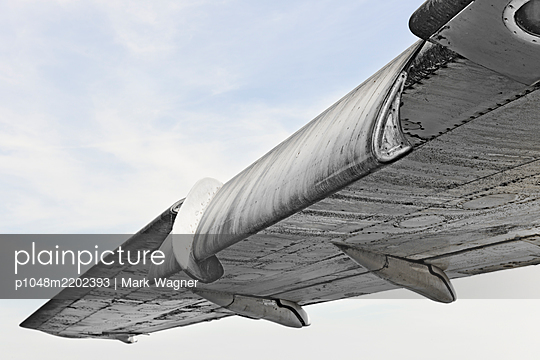 """Airliner wing """"high lift' device - p1048m2202393 by Mark Wagner"""