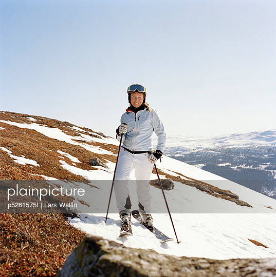 A woman skiing Sweden