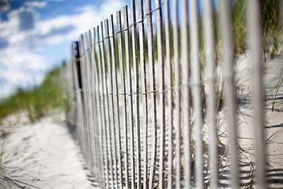 Beach fence - p1211m1015164 by Danny Weiss