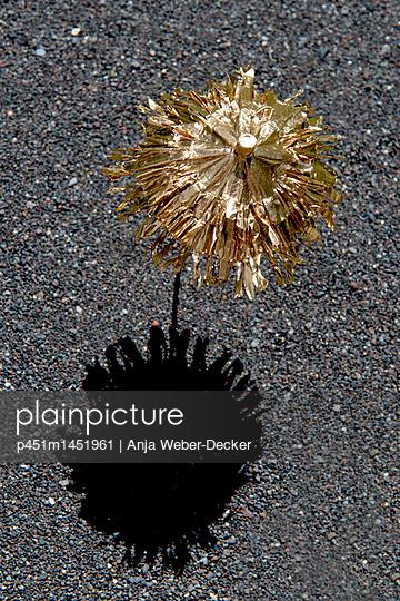 Goldenes Cocktailschirmchen - p451m1451961 von Anja Weber-Decker