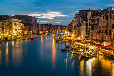 Italy, Venice, Canale Grande at dusk - p300m911159f by EJW