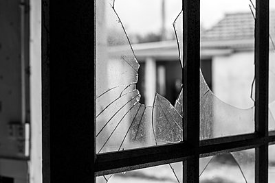 Window panes broken by Windstorm Xynthia, Les Boucholeurs, Charente-Maritime, France - p675m922857 by Christian Zachariasen