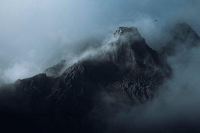 Mountain in the mist - p1585m2285241 by Jan Erik Waider