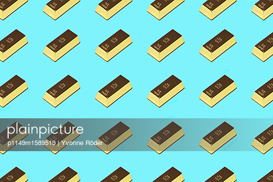 Goldbarren - p1149m1589519 von Yvonne Röder