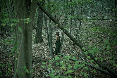Woman deep in the woods - p1321m2021981 by Gordon Spooner