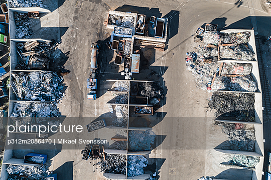 Aerial view of recycling station - p312m2086470 by Mikael Svensson