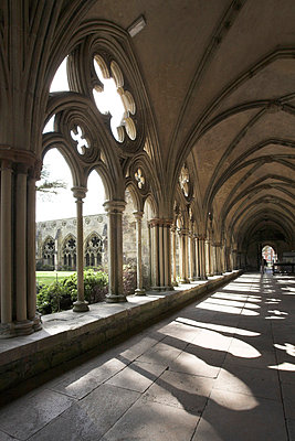 Salisbury Cathedral, Wiltshire, from 1220. - p8550589 by David Clapp