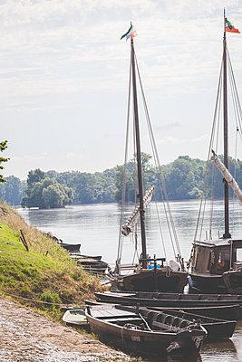 Loire boats - p1402m2115530 by Jerome Paressant