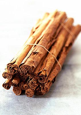Bundle of cinnamon sticks - p62317001f by J. Hall & L. Mouton