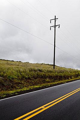 Street in Mauna Loa; Hawaii - p9070060 by Anna Fritsch