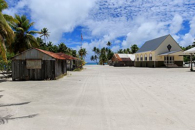 Settlement of Palmerston on Palmerston Atoll, Cook Islands - p429m1084556 by Richard Robinson