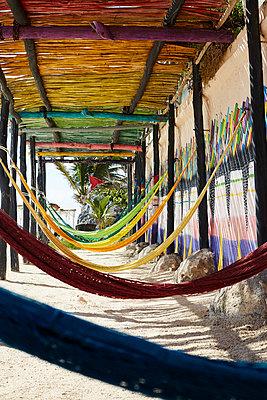 Bright hammocks Papaya Playa  - p1499m2038667 by Marion Barat