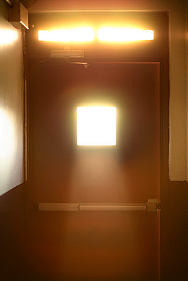 Sunlight in door windows - p3720424 by James Godman