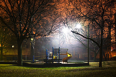 Park at night, illuminated - p3720430 by James Godman