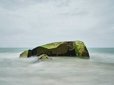 Bunker on beach - p1312m1502236 by Axel Killian