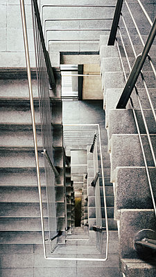 View from above concrete stairs - p301m2018329 by Norman Posselt