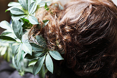 Hair and leafage - p906m709948 by Wassily Zittel
