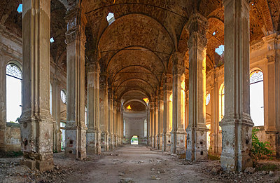 Abandoned Zelts Catholic Church, Ukraine - p1166m2096332 by Cavan Images