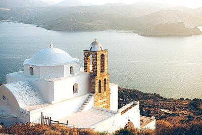 Greece, Milos, Orthodox church of Plaka - p300m1205030 by Gemma Ferrando