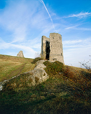 Hadleigh Castle. View looking towards one of the circular towers. - p8551749 by Patricia Payne