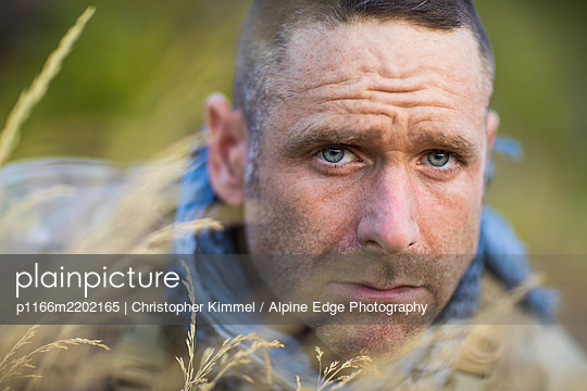 Portrait of Mountain Athlete, Adam Palmer. - p1166m2202165 by Christopher Kimmel / Alpine Edge Photography