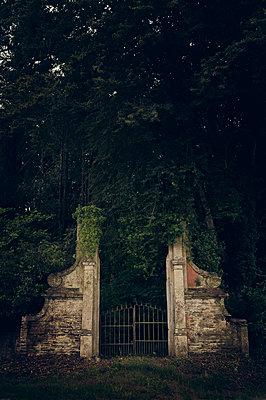 Historische Pforte in der Bretagne - p470m2053090 von Ingrid Michel