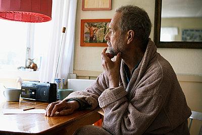 A thoughtful elderly man Sweden - p31222453 by Olof Hedtjarn