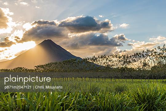 Volcano Arenal, seen from La Fortuna de San Carlos, Costa Rica, Central America - p871m2047121 by Chris Mouyiaris