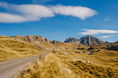Massif, road across Durmitor National Park, Montenegro - p1600m2184175 by Ole Spata