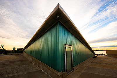 View of wooden cabin - p623m2186529 by Pablo Camacho