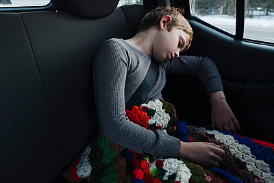 Asleep in Car - p1262m1194783 by Maryanne Gobble