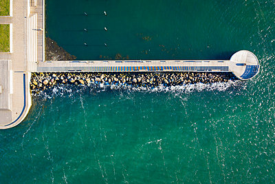 Aerial view of pier - p312m2139318 by Viktor Holm