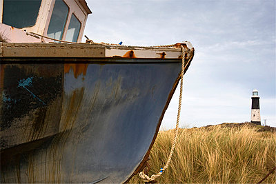 Abandoned boat, Humberside, England - p4426836f by Design Pics