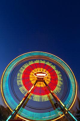Ferris wheel at night - p1596m2204668 by Nikola Spasov