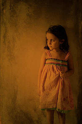 Portrait of a sad girl looking away - p7940198 by Mohamad Itani