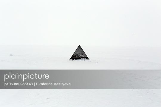 Russia, Pyramid in snow - p1063m2285143 by Ekaterina Vasilyeva