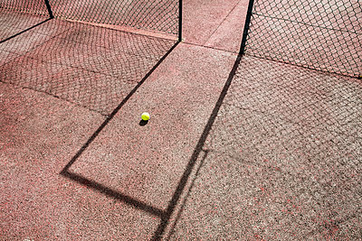 Tennis Ball in doorway  - p1082m1461556 by Daniel Allan