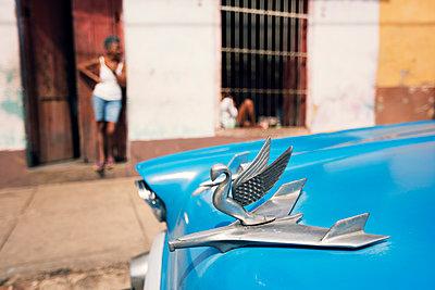 Hood ornament in Trinidad, Cuba - p1515m2101063 by Daniel K.B. Schmidt