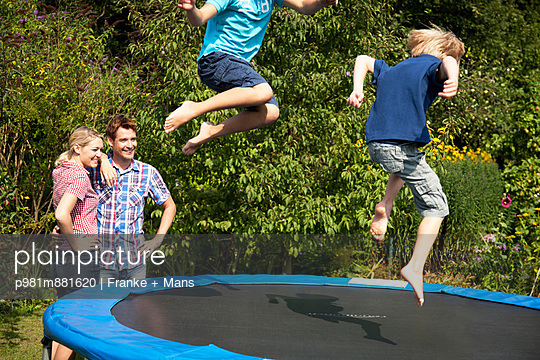 Fun with a trampoline - p981m881620 by Franke + Mans