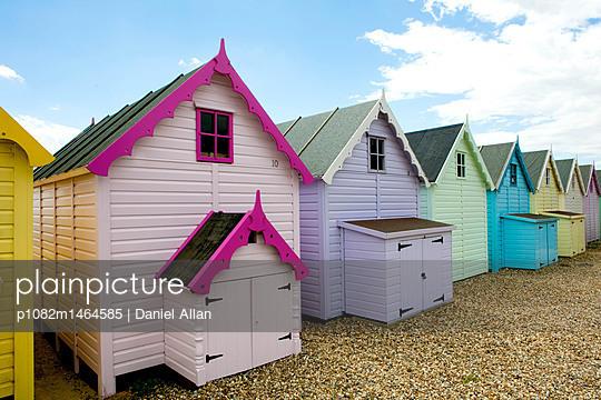 Beach Huts - p1082m1464585 by Daniel Allan