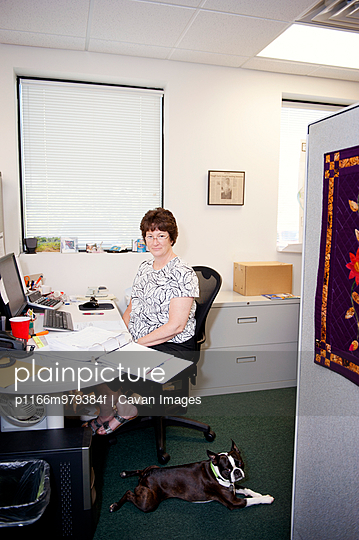 Female Office Worker At Desk