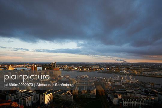 Dark clouds over Hamburg - p1696m2292973 by Alexander Schönberg