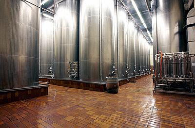 Steel tanks in a wine cellar - p1299m2231847 by Boris Schmalenberger