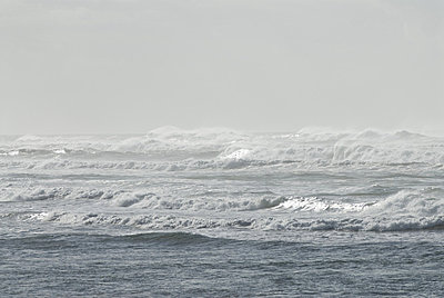 Waves in sea under clear sky - p4340271f by Chad Coleman