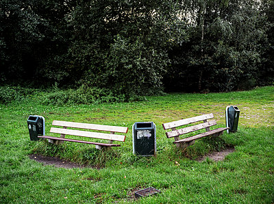 Benches and waste bins - p1132m1017001 by Mischa Keijser