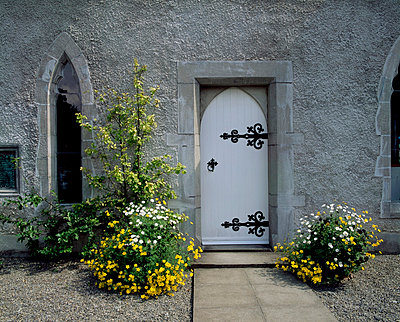 Door to Museum, Lodge Park, Straffan, Co Kidare, Ireland - p4428973 by The Irish Image Collection